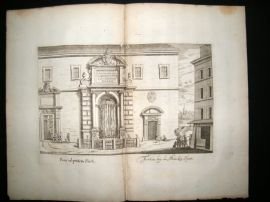 Falda Fountains of Rome 1685 Architecture Print. Fons ad Pontem Sixti